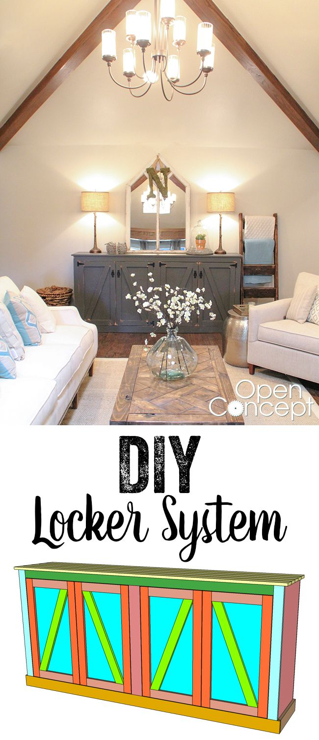 LOVE this Locker Storage Cabinet! Free plans and tutorial! www.shanty-2-chic.com