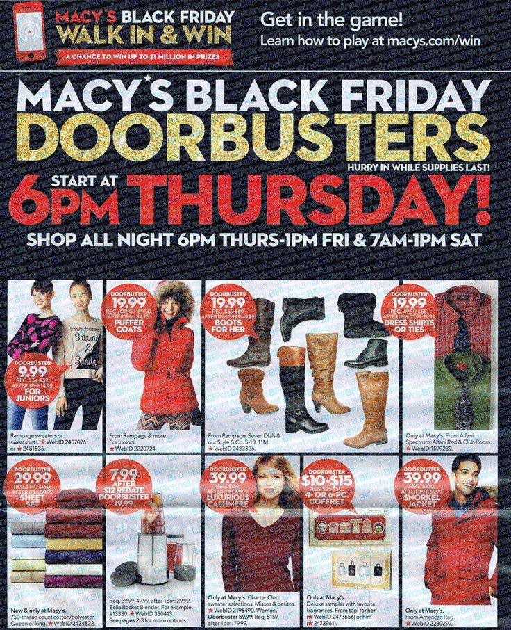 The Macy's Black Friday Ad 2015 has been leaked!