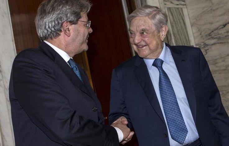 """Gentiloni riceve la visita di George Soros a Palazzo Chigi. Un atto di """"cortesia""""?"""