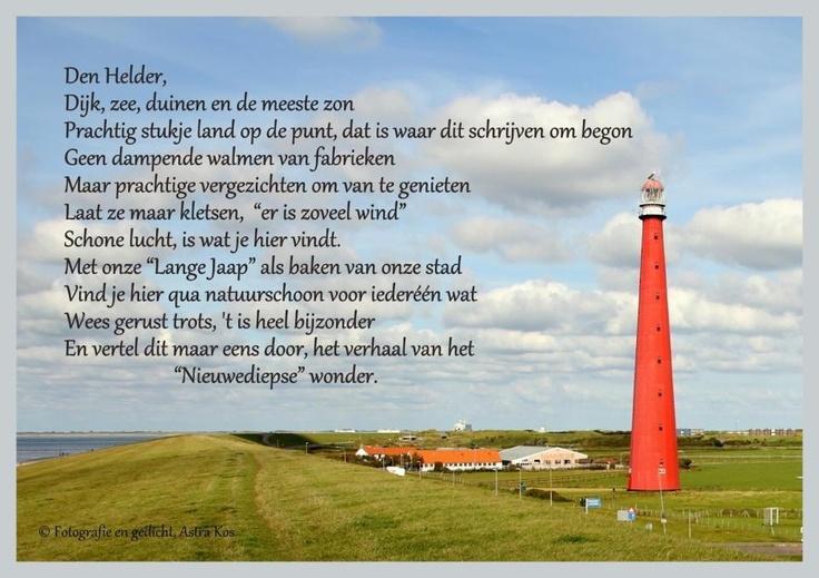 Poem over Den Helder