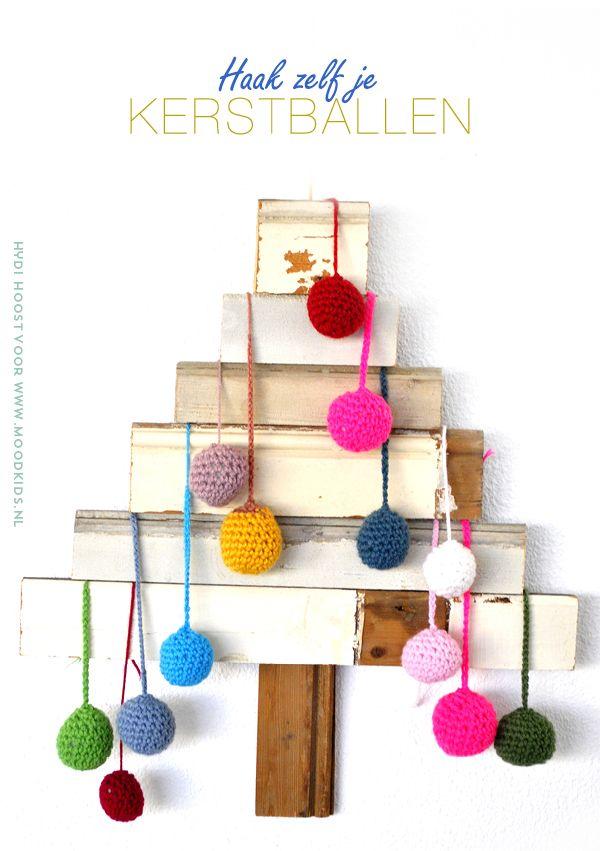 kerstballen haken patroon, crochet, gehaakte kerstballen, kerstversiering, ballen haken #christmas #diy #crochet