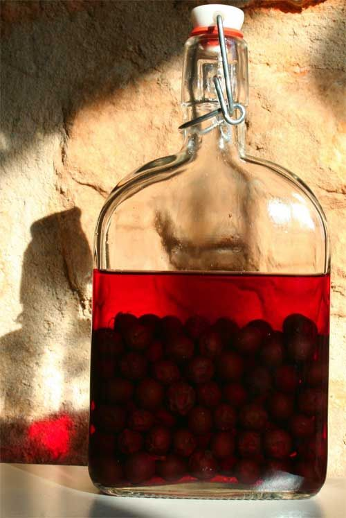 Gather sloes from the hedgerows in September, prick, mix with sugar & gin; wait a few months, drink Sloe Gin
