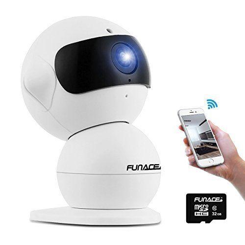 Robot WiFi Camera Optic HD 32-GB MicroSD High Definition Security Surveillance #FunAce