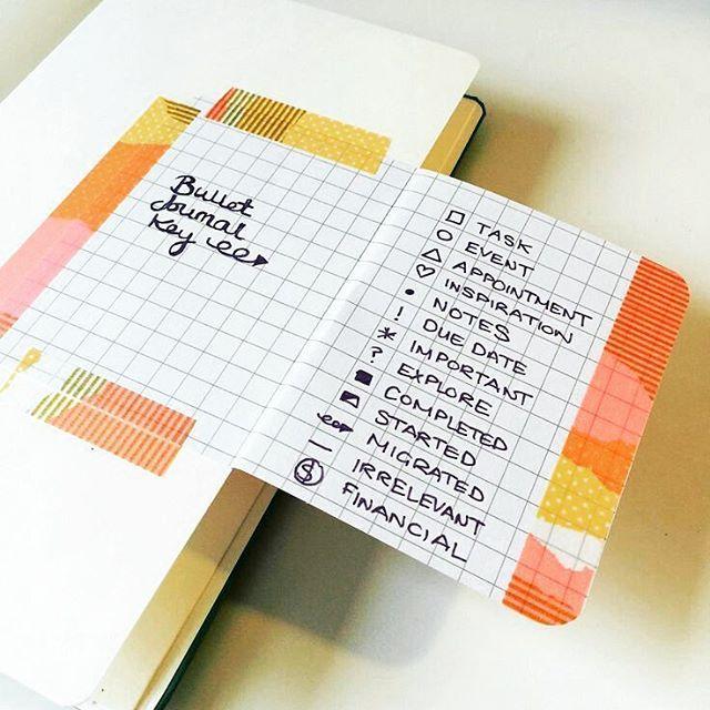 Bom dia bookers!! Olha que linda essa idéia de bullet journal para fazer o seu índice com washi tapes. Nós amamos e vc?? #booksdecor #bomdiaa #bulletjournaling #novasideias #criatividades #washitapes