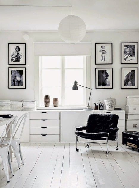 The striking monochrome home of a Swedish photographer