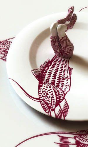 Kim Joon  fragile-mermaid  90cm x 54cm - digital print - 2010    A sculpting photo-illustration style.    http://kimjoon.co.kr