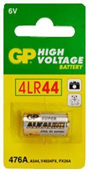 2X Super GP Batteries High Voltage Alkaline 6V 476A by GP. $3.99. - Brand new GP 4LR44 Super Alkaline Battery- Quantity: 2 Total Batteries- Nominal Voltage of 6 Volts. 105 mAh Nominal Capacity.- GP batteries are formulated to provide an economical and reliable power source for low to medium drain applications such as; Remote controls, flashlights, and other devices.- These are not off-brand Asian batteries. These are name brand, high quality batteries made by one of the ...
