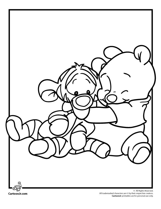 Disney Babies Coloring Pages Pooh and Tigger Disney Babies Coloring Page – Cartoon Jr.