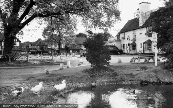 Worcester Park, The Plough Inn c.1965, from Francis Frith