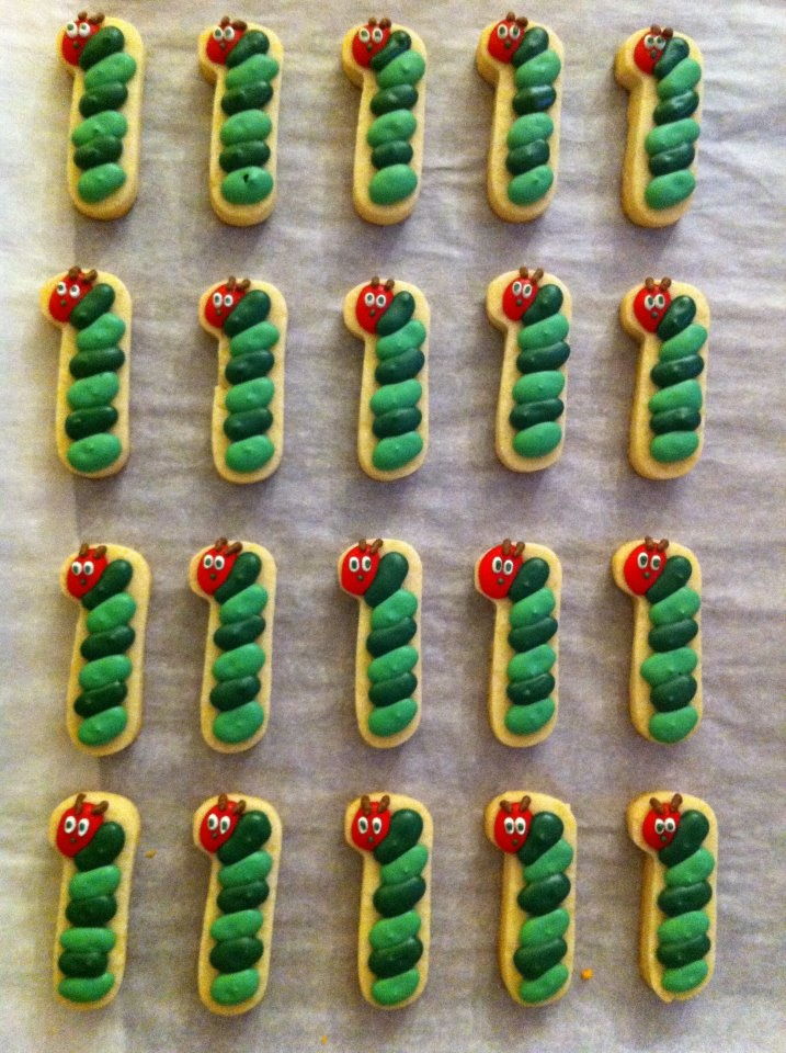 #1 Very Hungry Caterpillar cookies from The Cookie Countess