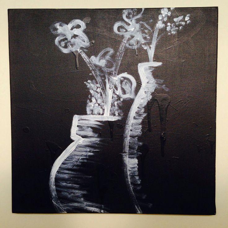 """Dibalik keseimbangan"" 50x50cm Acrylic on canvas  2014"