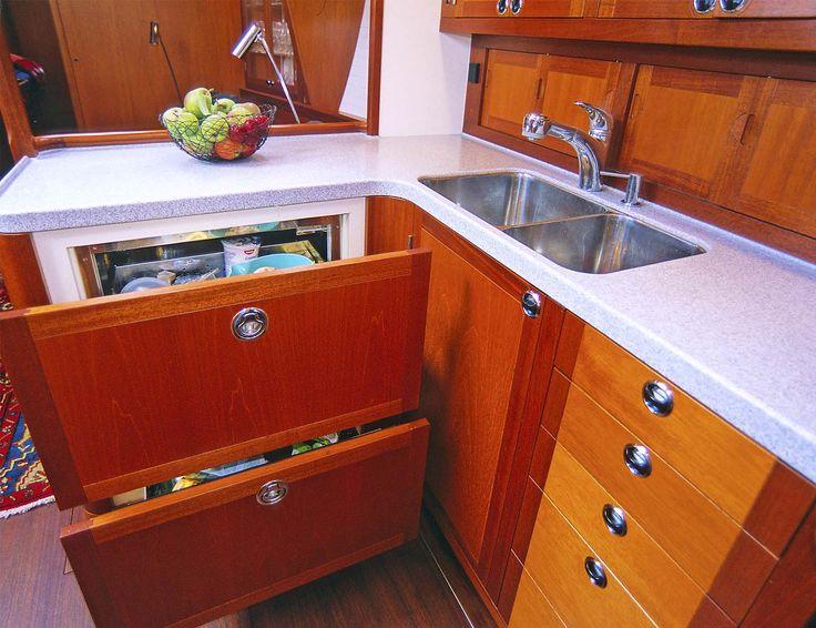 36 best boat galley ideas images on pinterest kitchen storage kitchen units and home ideas Ship galley kitchen design