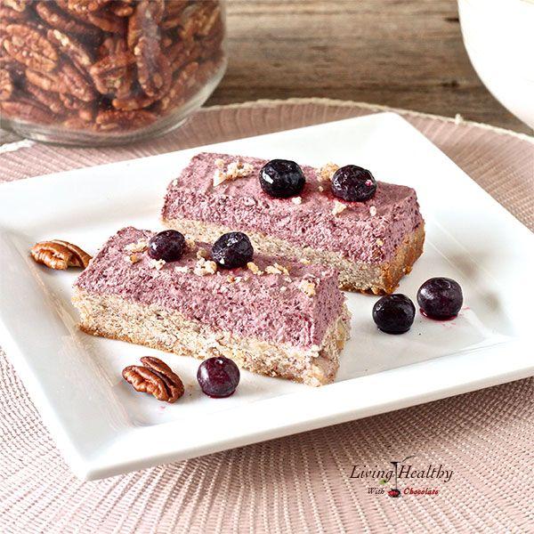 Blueberry Breakfast Bars (gluten-free, grain-free, dairy free) via @Living Healthy With Chocolate - Adriana