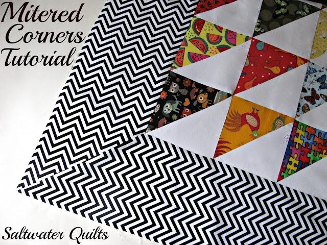 Saltwater Quilts: Tutorial: Quilt Border with Mitered Corner