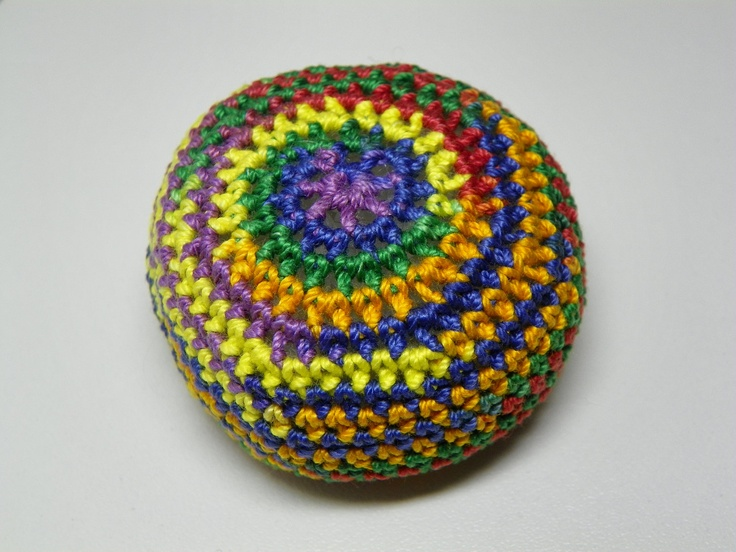 Crochet Hacky Sack. $10.00, via Etsy.