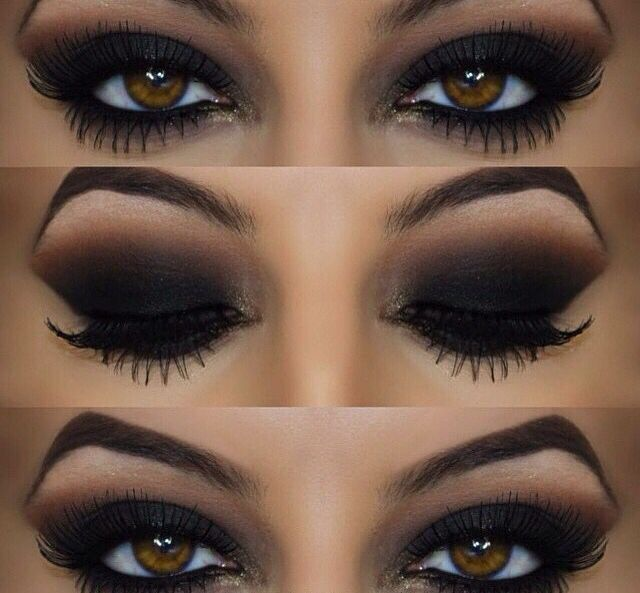 Black eyeshadow for brown eyes
