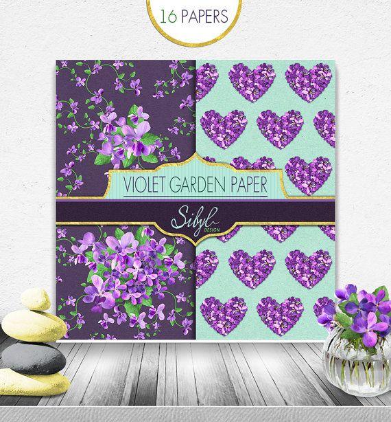 PRIMAVERA FLORAL violeta papel DIGITAL PACK - TEAL y jardín púrpura flor violeta DIGITAL papeles - púrpura y turquesa flor papel Pack, jardín de flores silvestres violeta patrón, fondos florales Kraft púrpura y Teal, púrpura y verde azulado textura, Scrapbooking Digital púrpura, papel de Decoupage de flores  Este paquete de papel de violeta de jardín de flores silvestres es ideal para: Scrapbooking, cardmaking, invitaciones de boda, boda tarjetas, tarjetas, decoupage, etiquetas, menús…