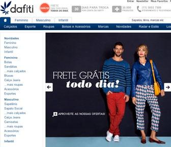 Dafiti, loja online com Frete Grátis para todo o Brasil:  Internet Site,  Website, Web Site