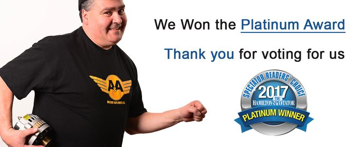"""OH YOU DIDN'T KNOW!!! We won the 2017 platinum award for """"Best Auto Parts Store"""" in Hamilton.    We are still celebrating our achievement. We wanted to thank all of our customers who voted for us.    A&A Discount Auto Parts works hard to get our customers the best prices on OEM and Aftermarket Parts.  https://aadiscountauto.ca/    #AADiscountAuto #HamiltonSpec #ReadersChoice #PlatinumAward #BestAutoPartsStore #Hamon #AADiscountAutoParts #OEM #AftermarketParts #PlatinumAward2017 #Winner"""