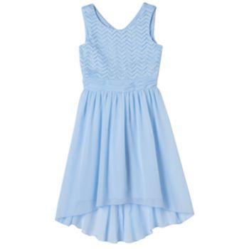 Girls 7-16 & Plus Size Speechless Chevron High-Low Dress