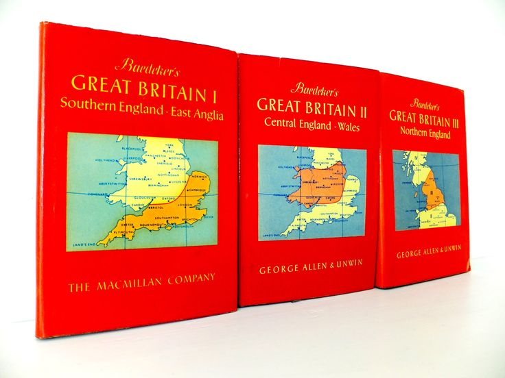 3 Great Britain Vintage travel books, Set of 3 Baedeker's Guides to Great Britain, British Guidebooks, England Guides by PeonyandThistle on Etsy https://www.etsy.com/listing/245357302/3-great-britain-vintage-travel-books-set