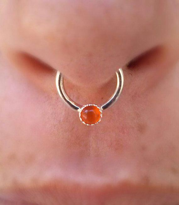 Septum Ring Nose Ring Septum 16g Septum Piercing Etsy Septum Nose Rings Nose Piercing Hoop Nose Ring