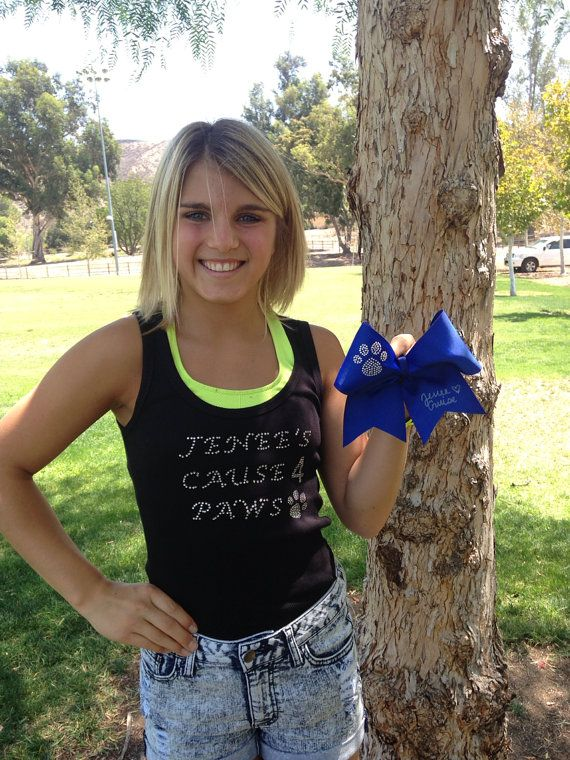 Jenee's Cause 4 Paws Signed Bow  100 Proceeds by CheerLover2Worlds, $15.00