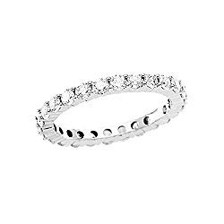 14K White Gold 1 1/2 ct. Diamond Bridal Eternity Wedding Band