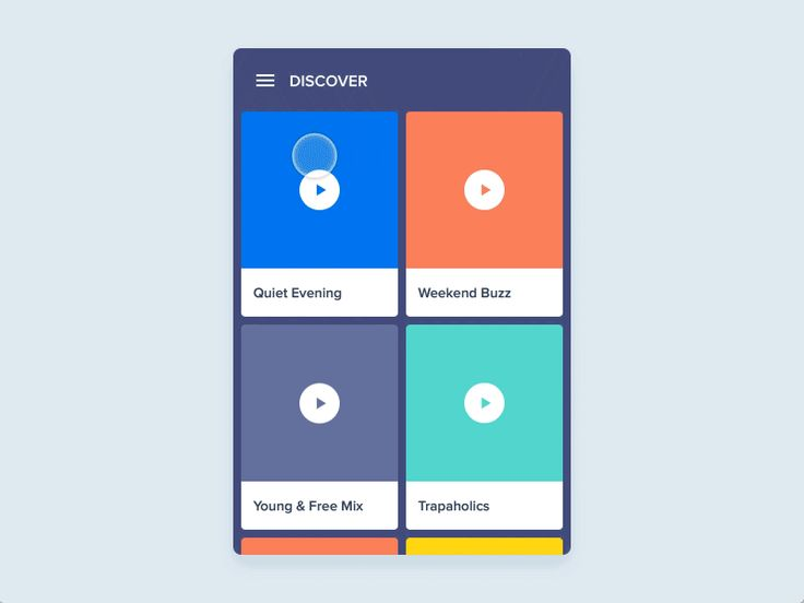 list interaction by principle - Ui Design Ideas