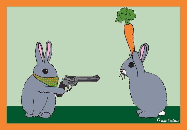 Rabbit Thief by Federico Monzani
