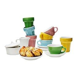DUKTIG 10-piece coffee/tea set, multicolor - multicolor - IKEA