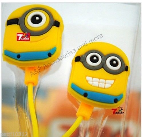 despicable me minion beedo universal 3 5mm in ear