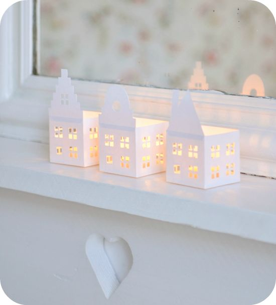 10 ideas para decorar con casitas - House Candle Printable