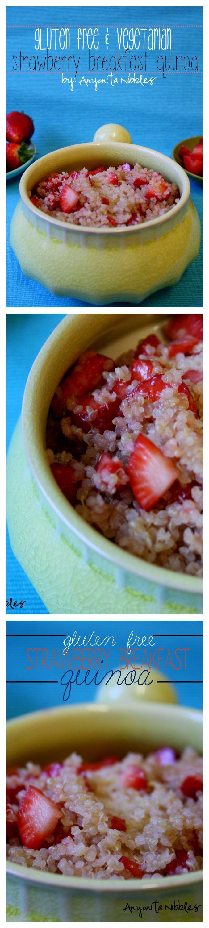 Gluten Free Vegetarian Breakfast Recipe: Strawberry Breakfast Quinoa #glutenfree #quinoa
