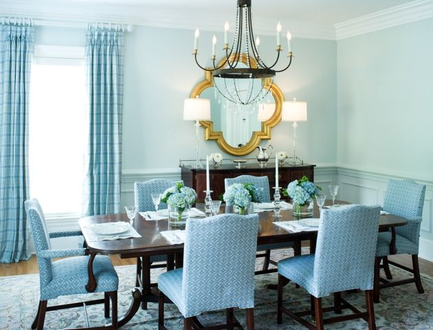 17 best images about blue home decor on pinterest for Light blue dining room ideas