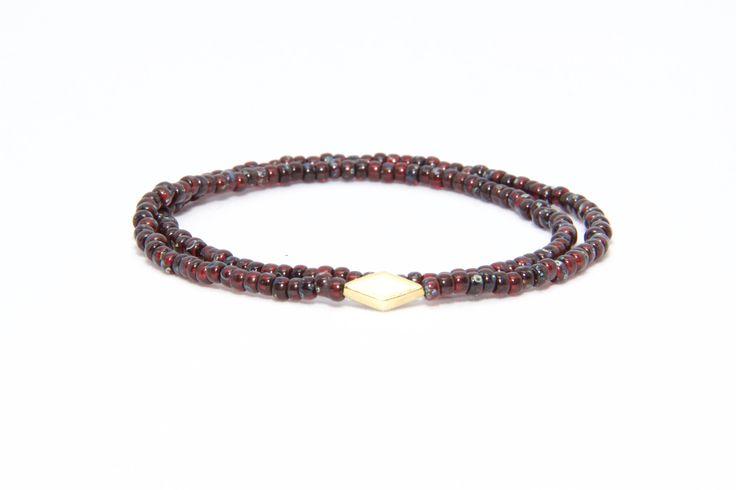 18K Solid Yellow Gold Beaded Bracelet Ruby Beads - Men's & Women's Stylish & Unique Bracelets