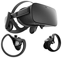 Oculus Rift + Touch Virtual Reality System   About the product Get 6 free titles, including: Robo Recall, Lucky's Tale, Quill, Medium, Dead and Buried, and Toybox Rift's ultra low-latency tracking offers unparalleled immersion The Oculus Touch controllers bring your hands into VR, letting you interact naturally with the virtual world NVIDIA GTX 1050Ti/AMD Radeon RX 470 or greater Graphics Card Required and a RAM of 8 GB+ RAM Windows 8.1 or Windows 7 SP1 64 bit or newer Operating System…