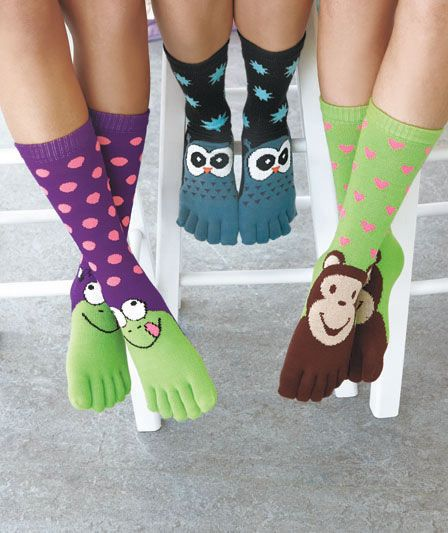 Novelty toe socks are fun and cozy! Keep those toes cuddled in these cute character socks.
