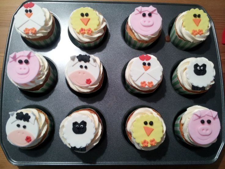 Farm animal cupcakes for RSPCA day!