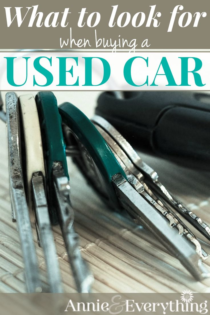 This is the ultimate list of what to look for when buying a used car so that you don't waste your money on a lemon. I will feel more confident when I buy my next car!