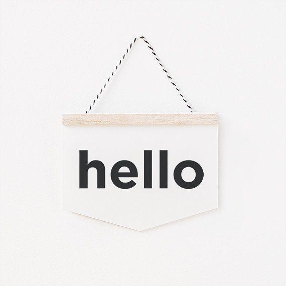 hello - wall hanging card