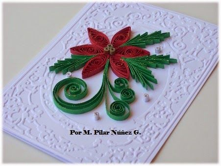 These are my Christmas´s quilling work this 2014. I hope you like it!     Cards:                          Quilling 3d: