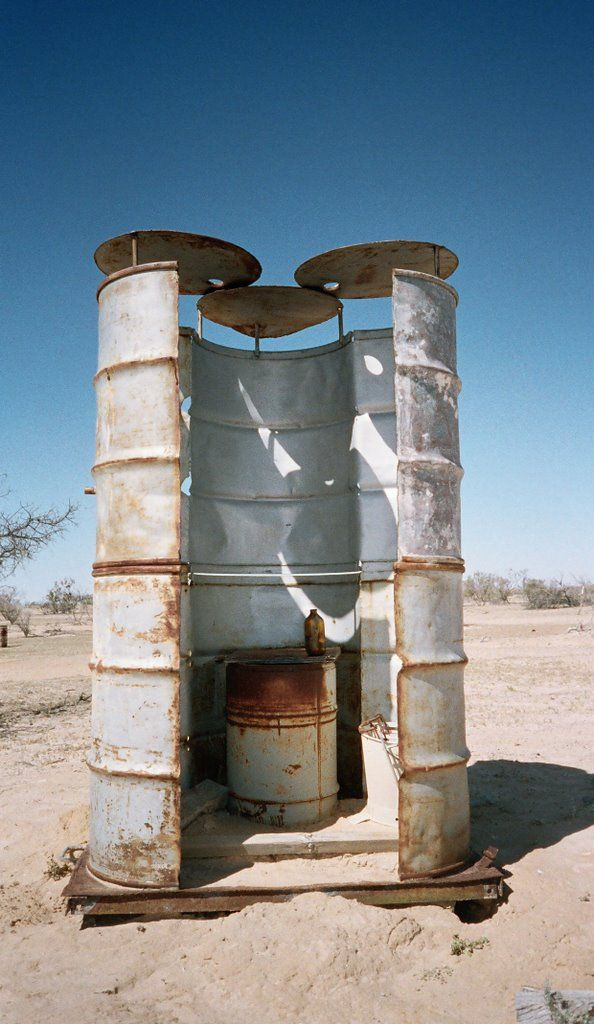 steel drum outback dunny • Australian toilet in the bush • aussie dunny outback