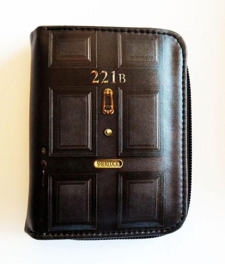Sherlock 221B Wallet, Zippered Pouch, Vegan Zippered Pouch Pleather Vegan Wallet #Unbranded #Envelope