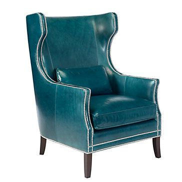 Embrace the marriage between style and comfort. Eddie Accent Chair in peacock, $1,299.00
