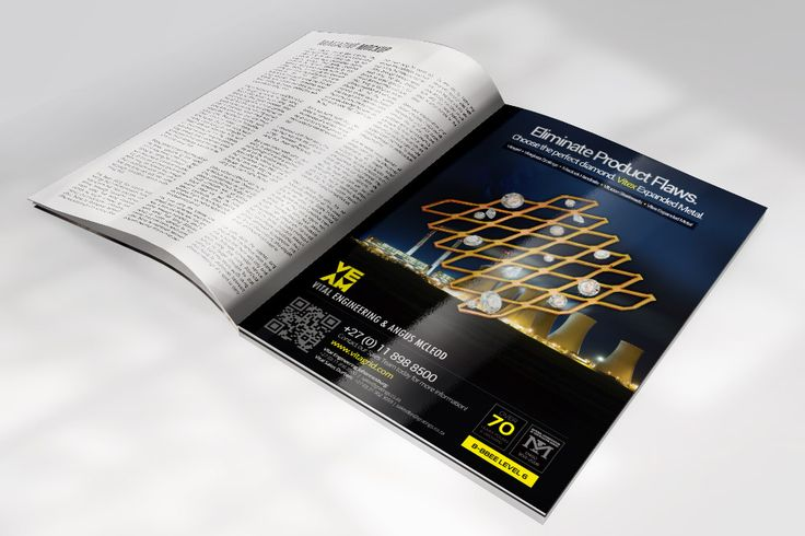 Magazine advert for client Vital Engineering of their expanded metal products.