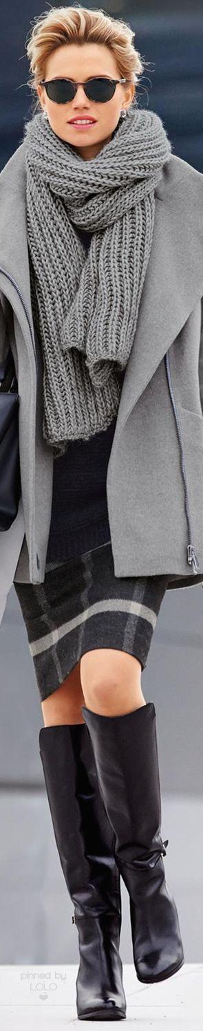 Madeleine Oversized Gray Jacket | LOLO❤