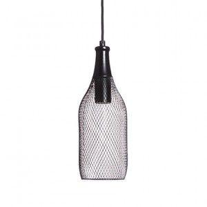 Great Wire Bottle Lamp   Black