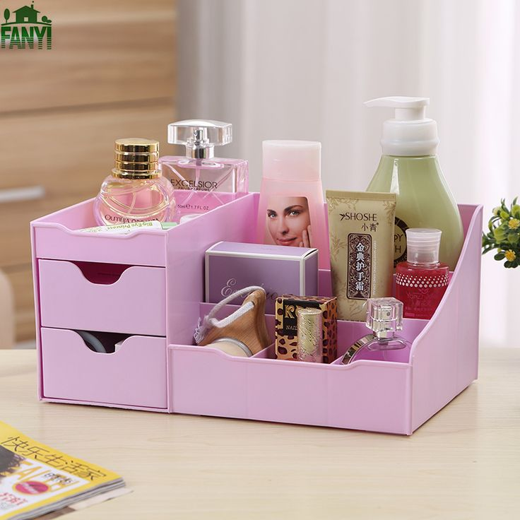 FANYI Creative Korean Waterproof Dressing Table Drawer Plastic Dusting Storage Boxes Household Finishing Box for free shipping