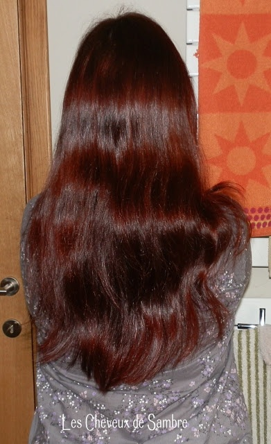 ma pousse de cheveux naturels - Coloration Henn Rouge